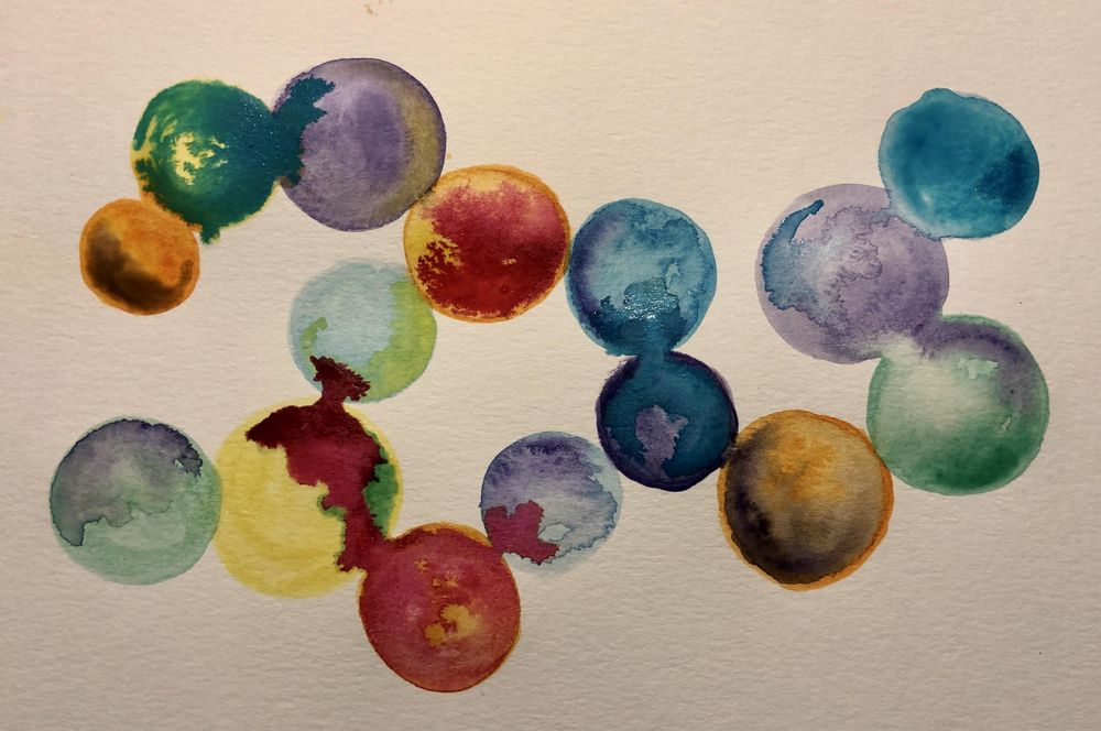 Abstract Watercolor - Shapes - image 1 - student project
