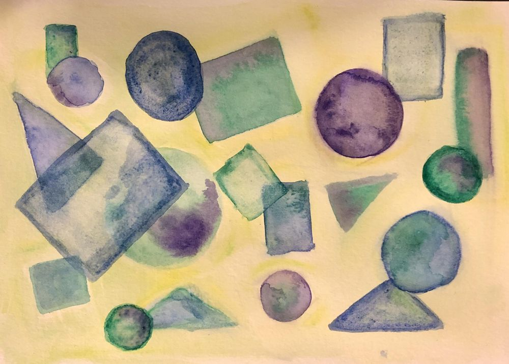Abstract Watercolor - Shapes - image 2 - student project