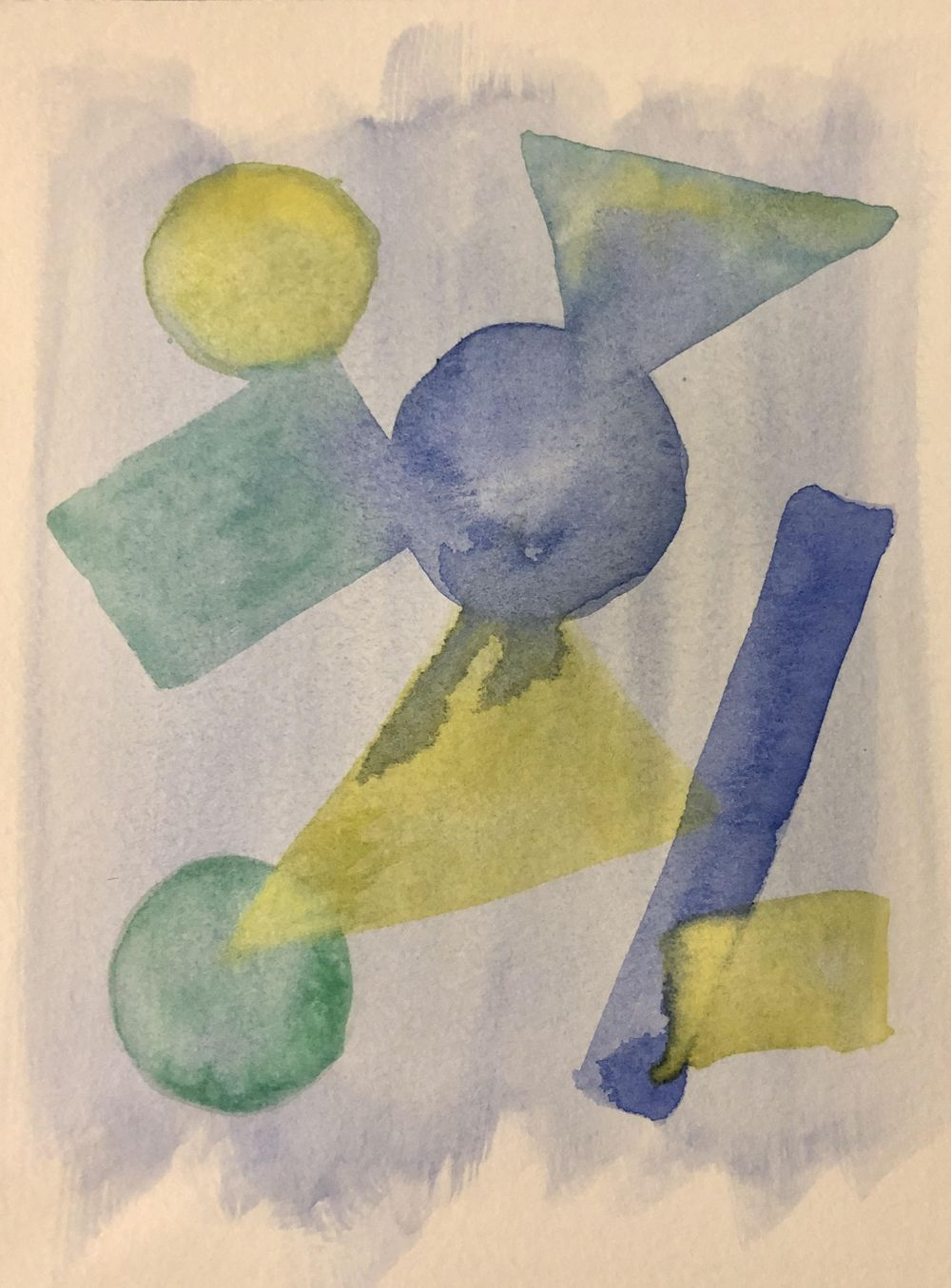Abstract Watercolor - Shapes - image 3 - student project