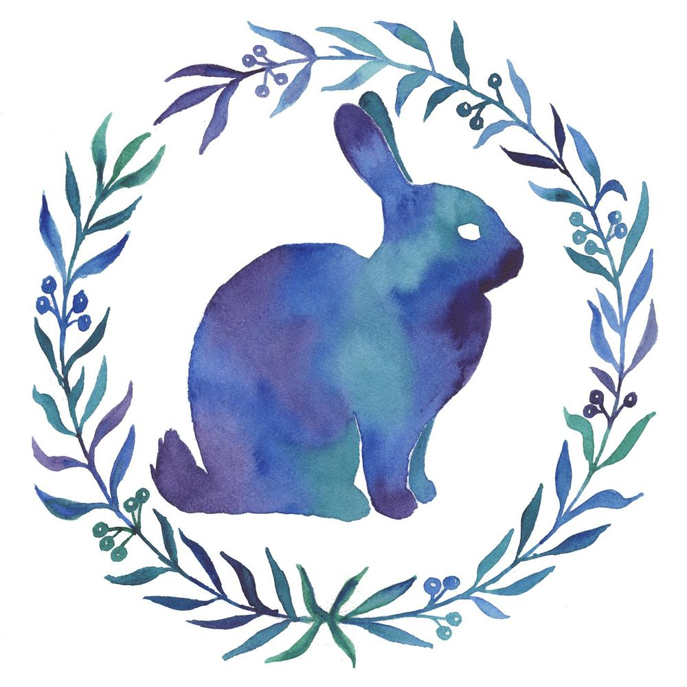 Watercolor Rabbit Silhouette - image 1 - student project