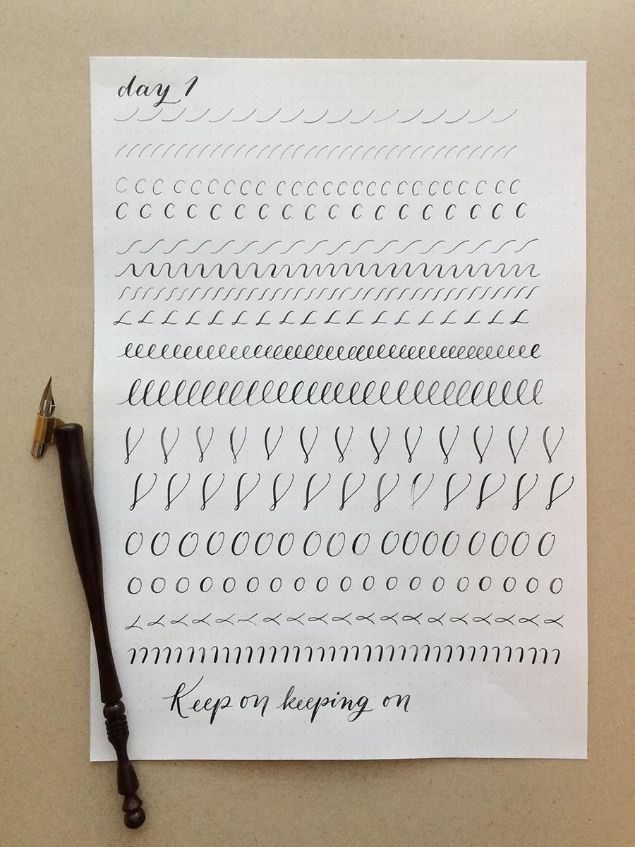 10 Day Calligraphy Challenge - image 1 - student project
