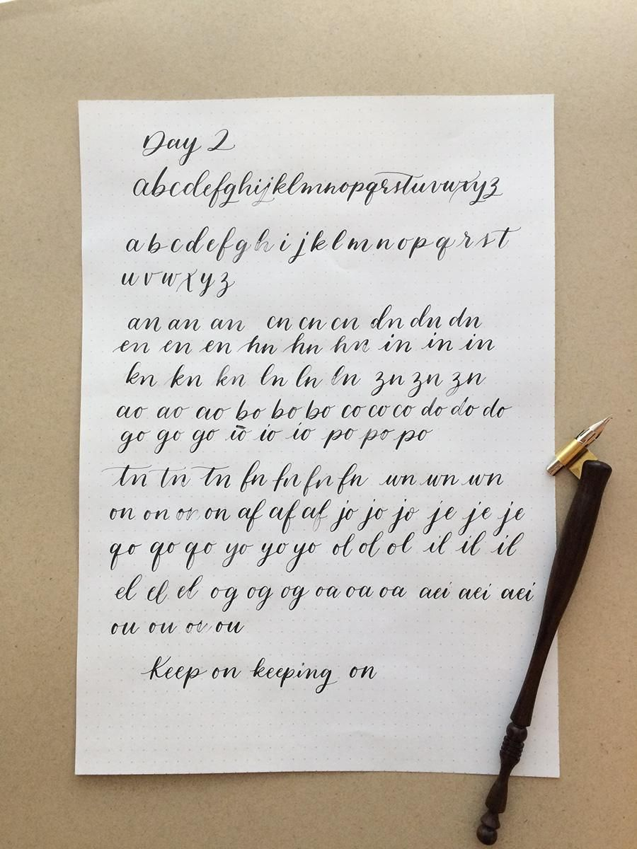 10 Day Calligraphy Challenge - image 2 - student project