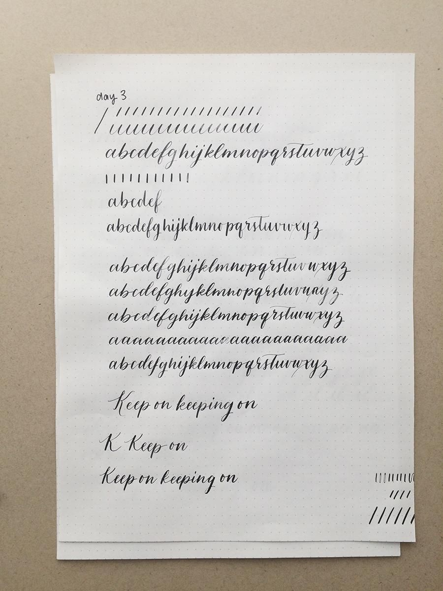 10 Day Calligraphy Challenge - image 3 - student project