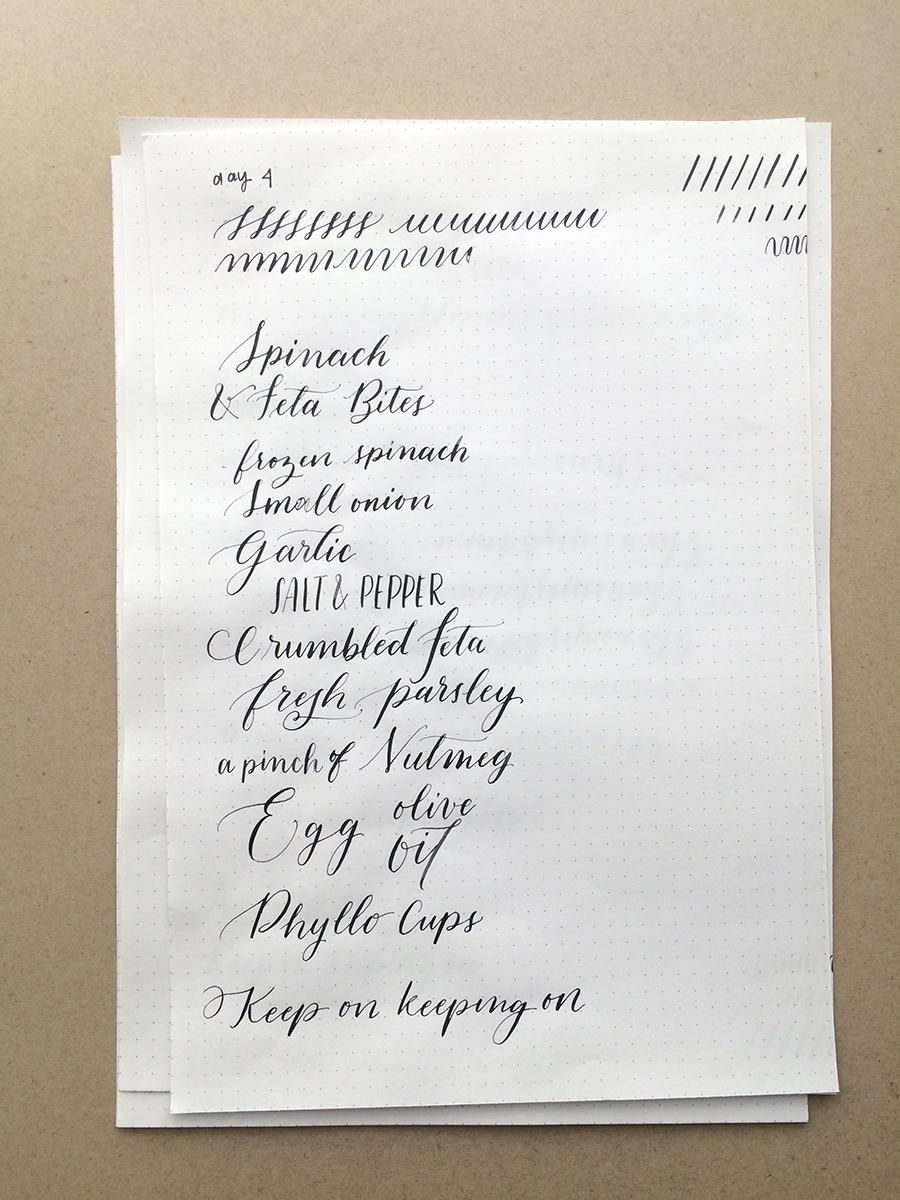 10 Day Calligraphy Challenge - image 4 - student project