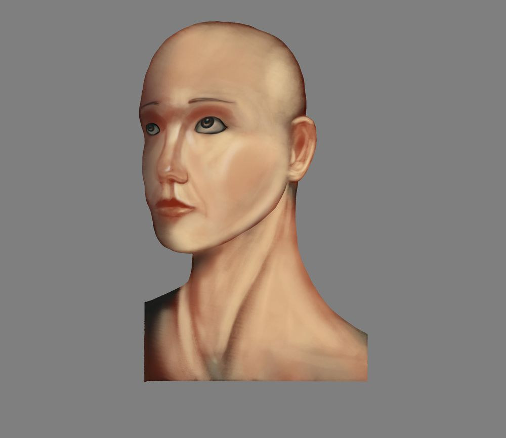 Woman head render - image 2 - student project