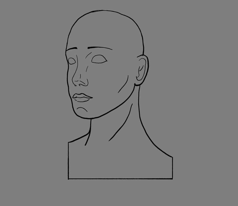 Woman head render - image 1 - student project