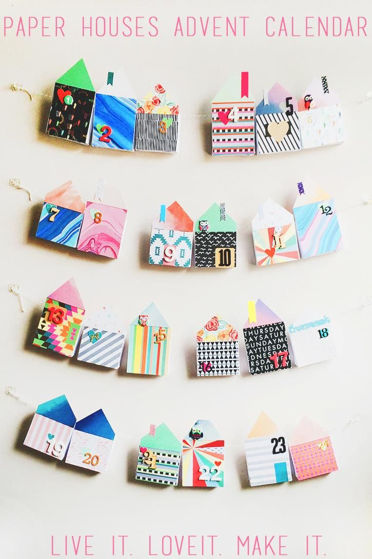 Make it: Fabric House Advent Calendar - image 1 - student project
