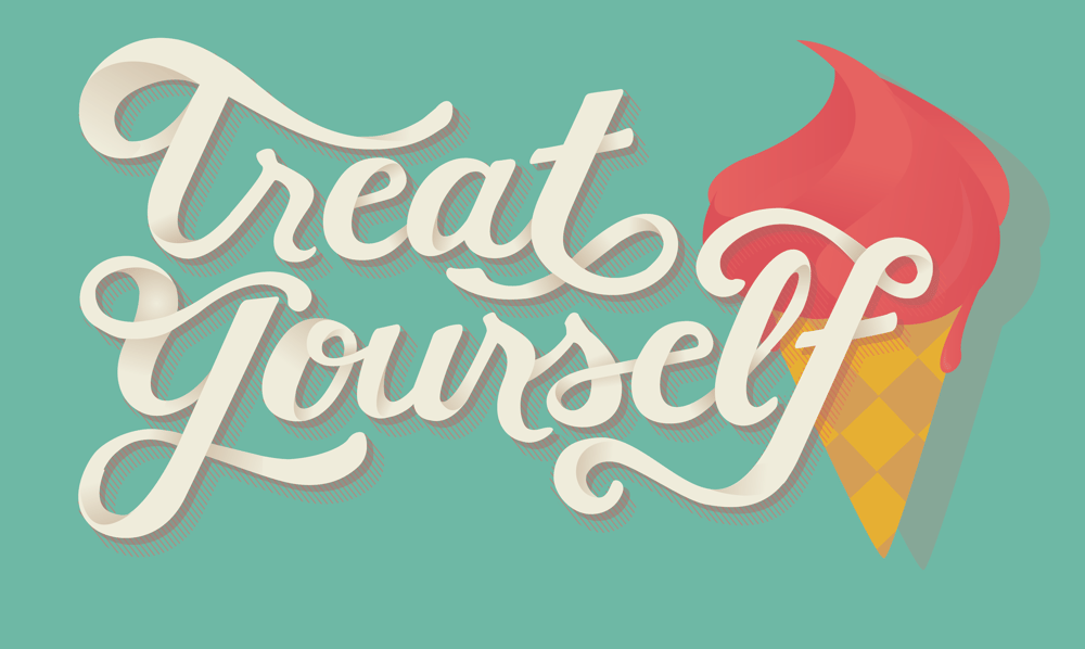 Treat Yourself Lettering - image 1 - student project