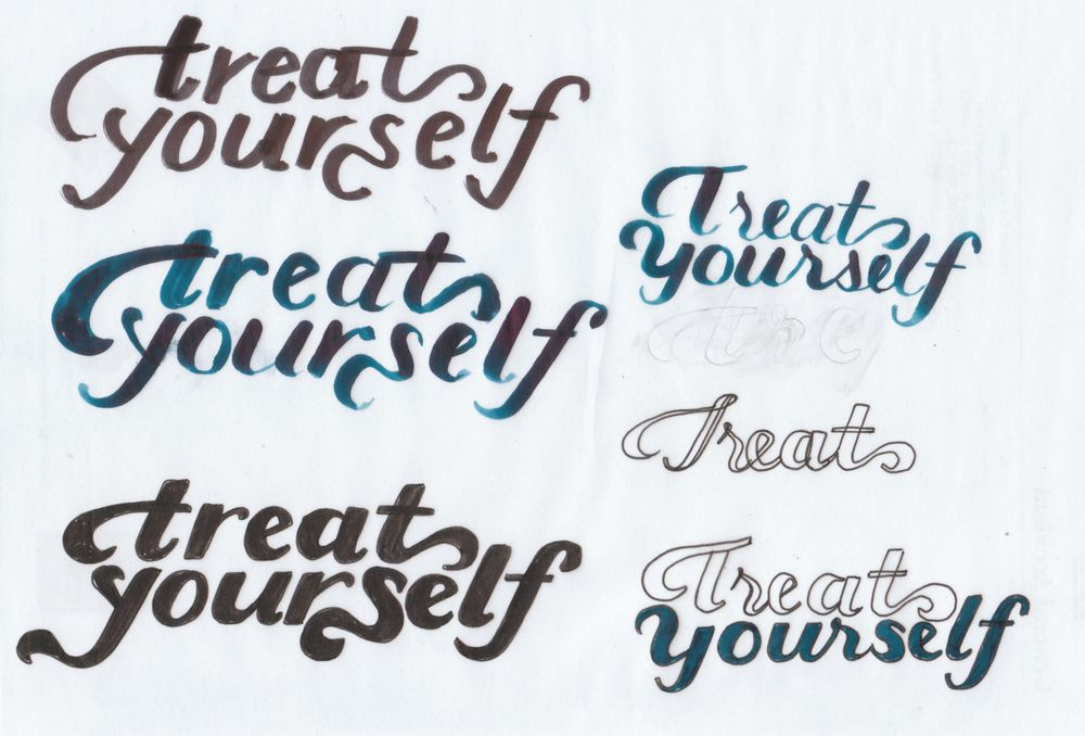 Treat Yourself Lettering - image 6 - student project
