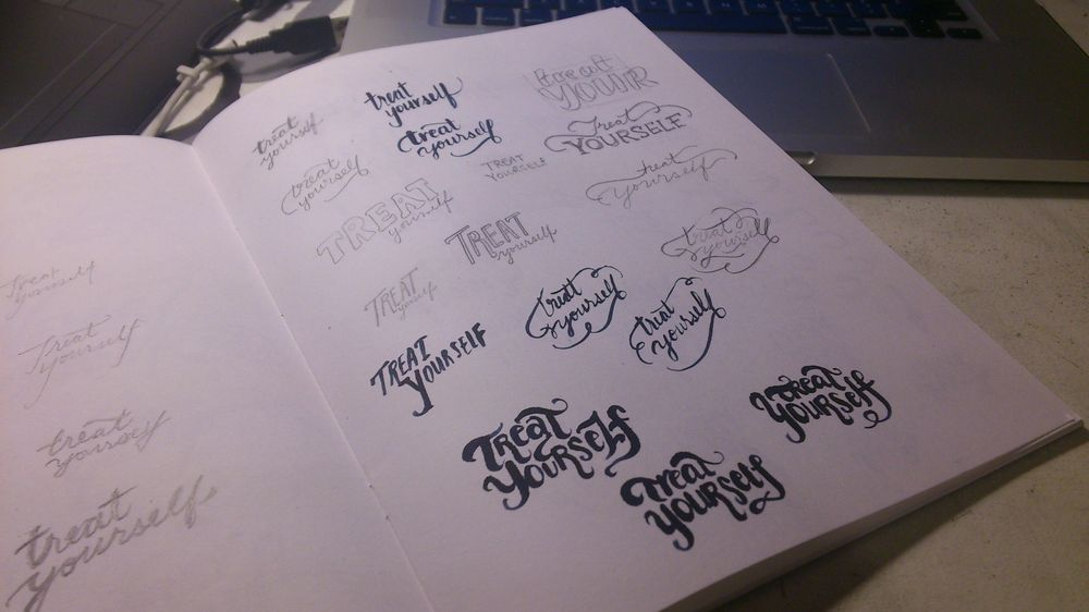 Treat Yourself Lettering - image 7 - student project