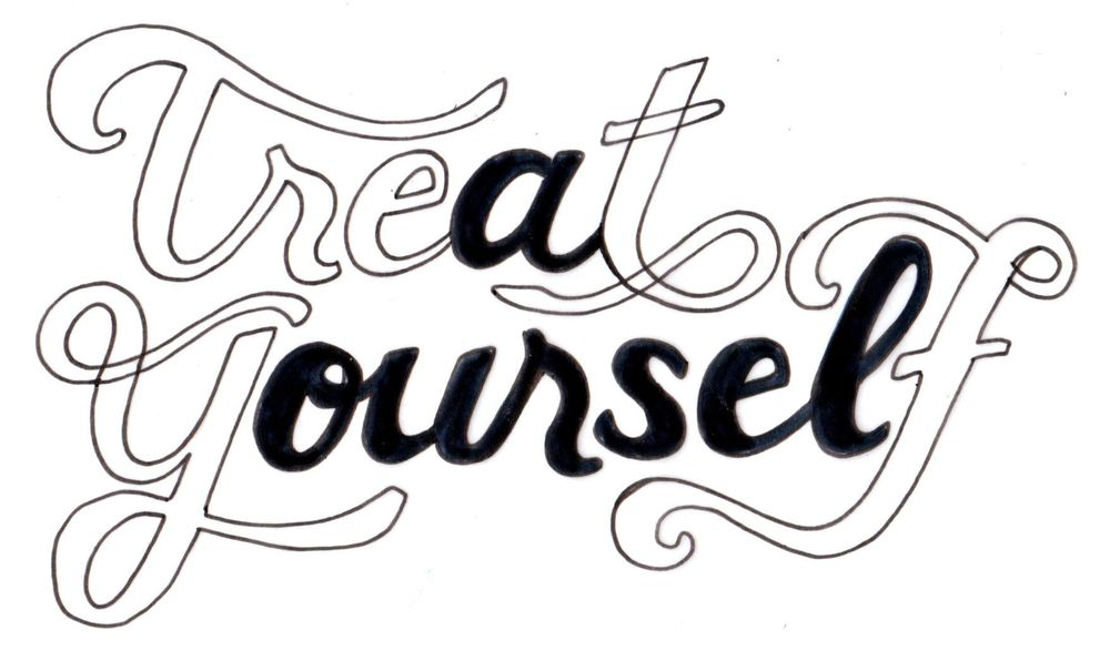 Treat Yourself Lettering - image 4 - student project