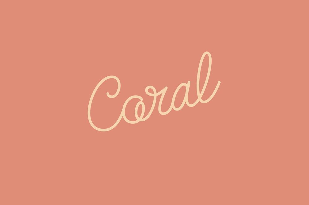 Animated Lettering - Coral - image 5 - student project