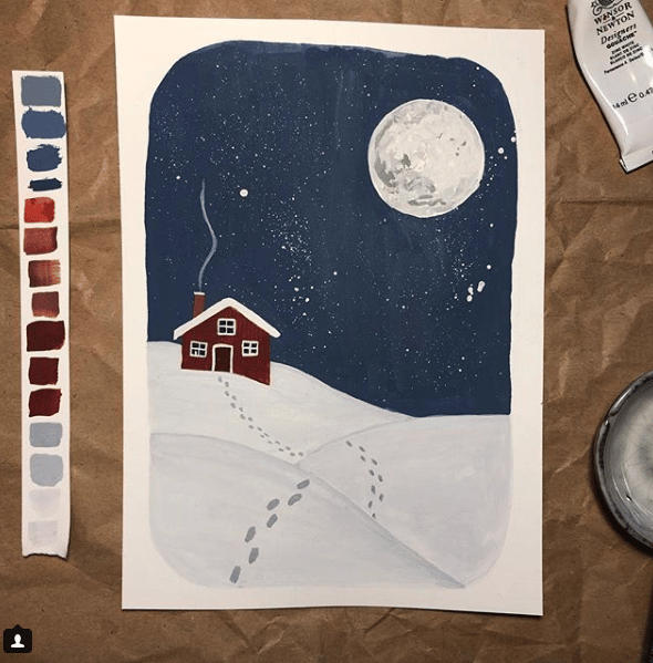 Winter illustration - image 1 - student project