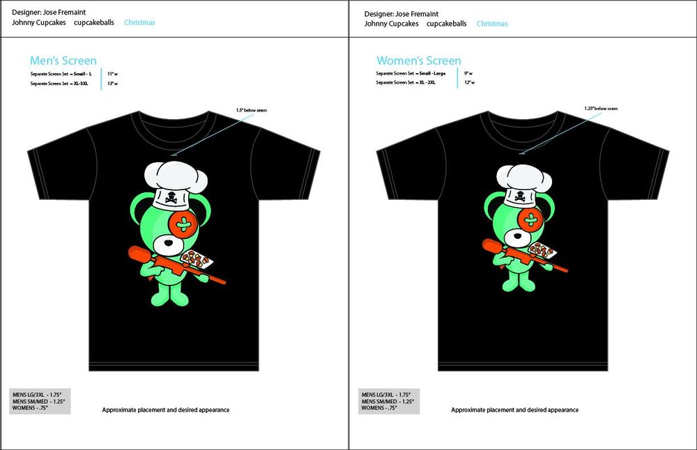 Boomy Bear and Johnny Cupcakes collaboration - image 4 - student project