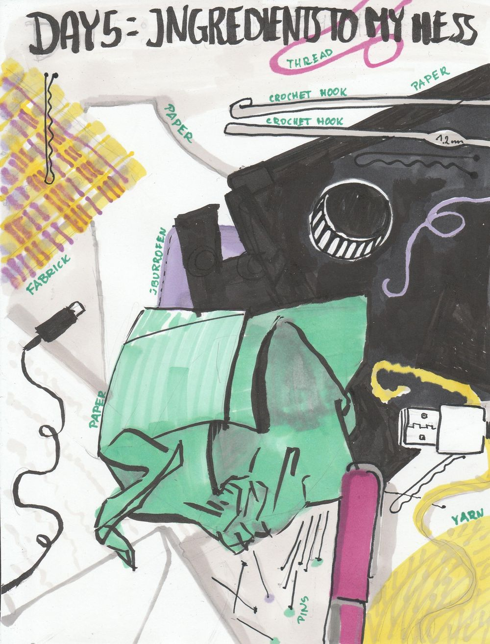 Illustrated Journaling: 14 Days of Prompts - image 7 - student project