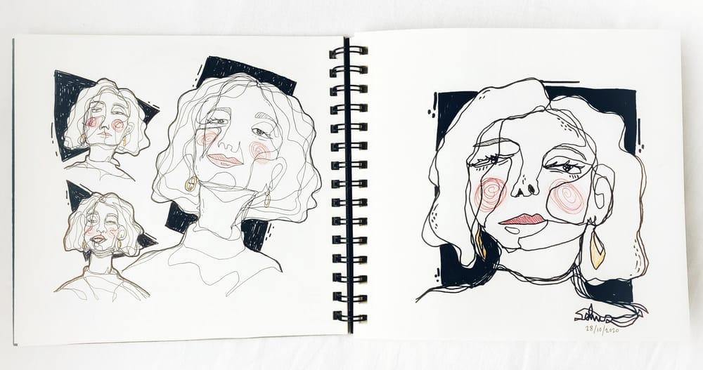 Contour Faces - image 1 - student project