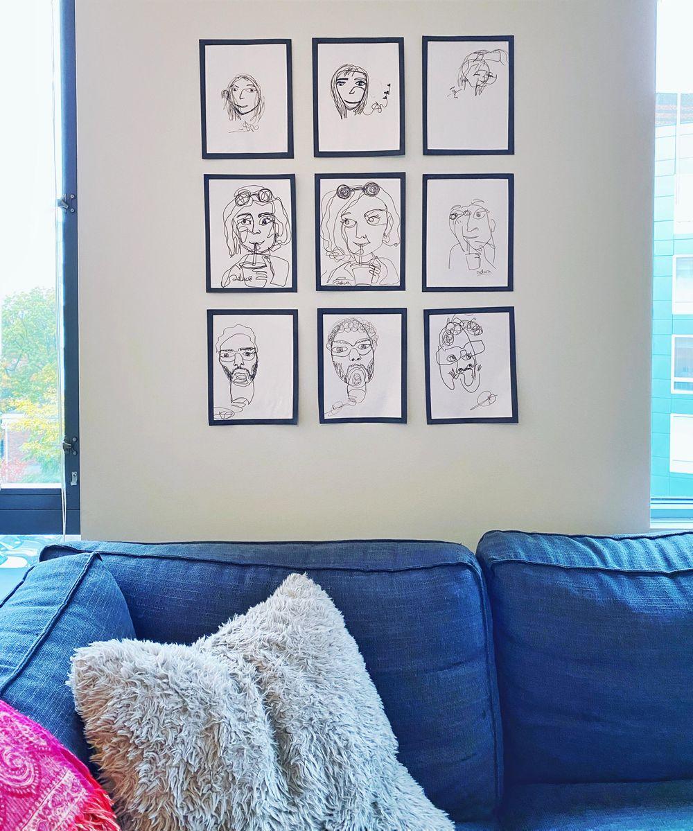 Contour Faces - image 3 - student project