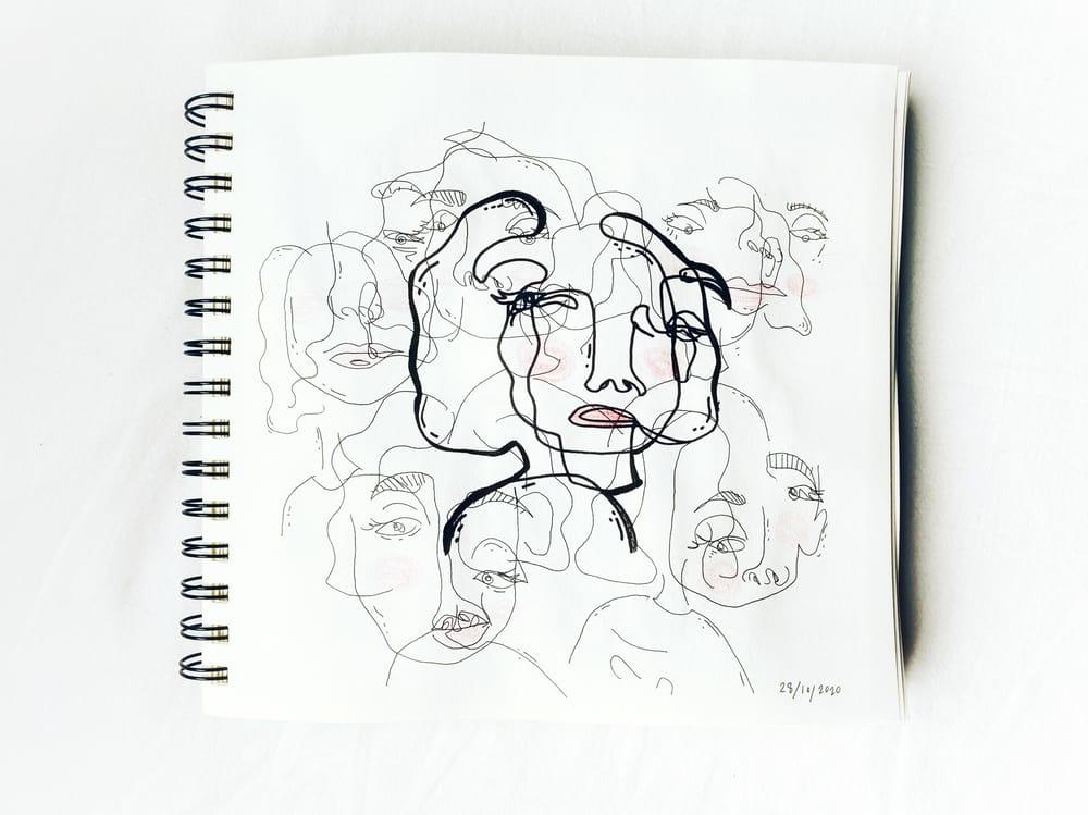Contour Faces - image 2 - student project