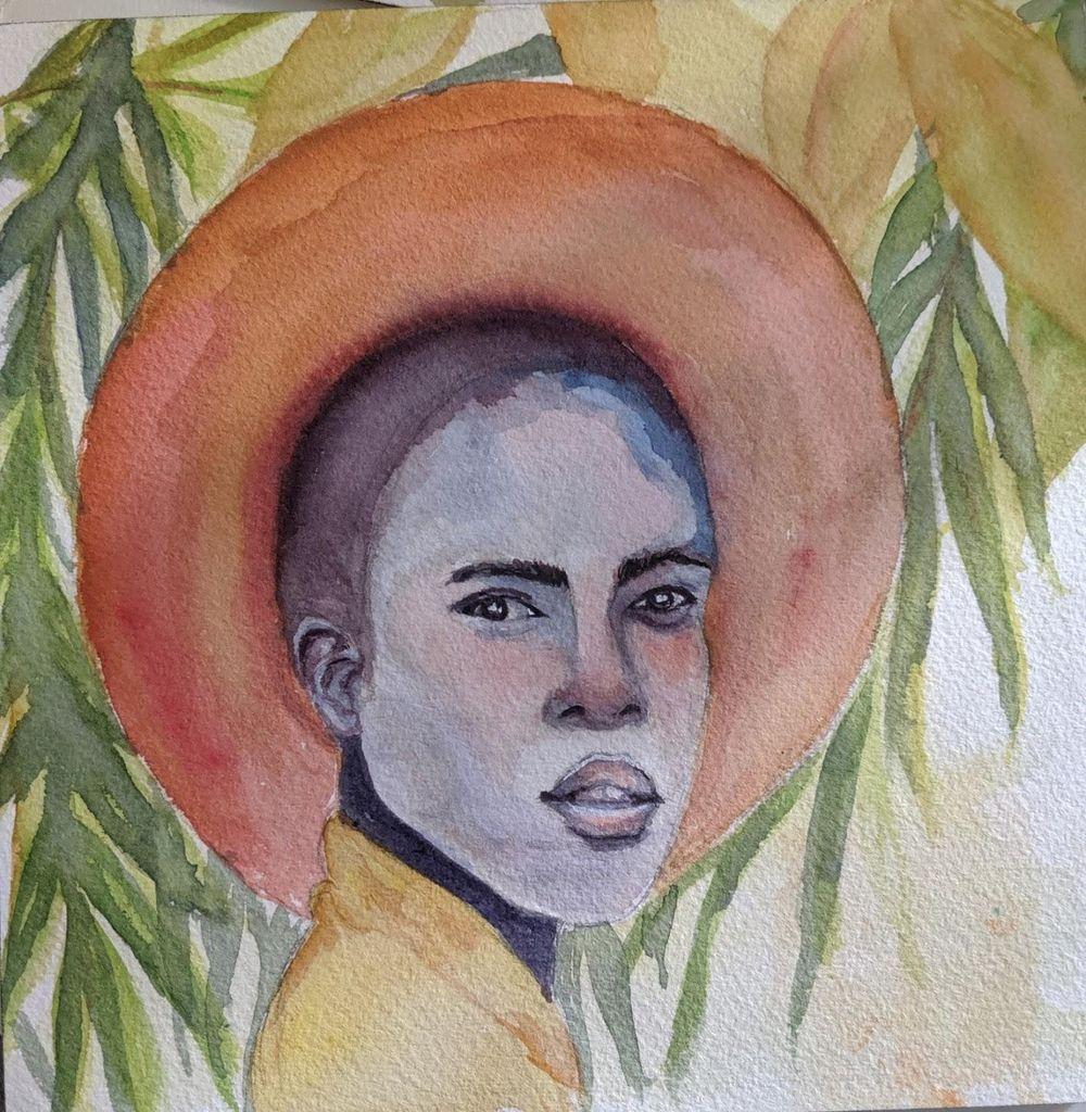 Watercolor portrait - image 4 - student project