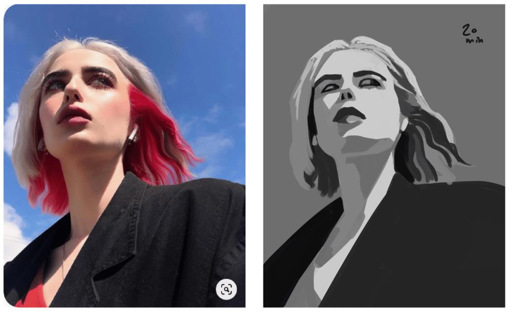 Photoshop Portrait - image 2 - student project