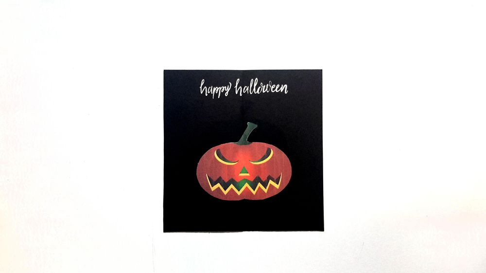 SAMPLE PROJECT: Pumpkin Halloween Card - image 1 - student project
