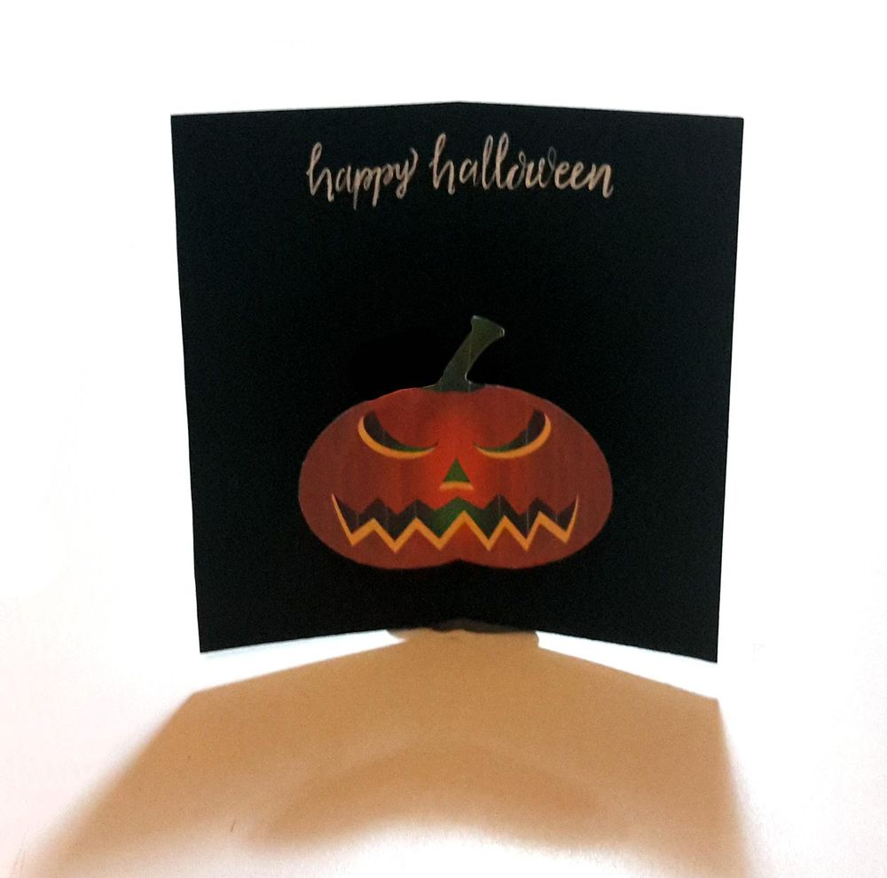 SAMPLE PROJECT: Pumpkin Halloween Card - image 2 - student project