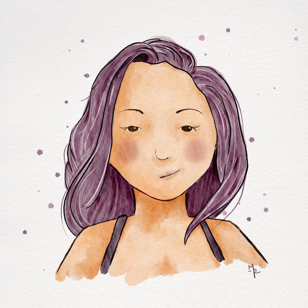 Cute & Stylized Portrait of my Sister - image 1 - student project