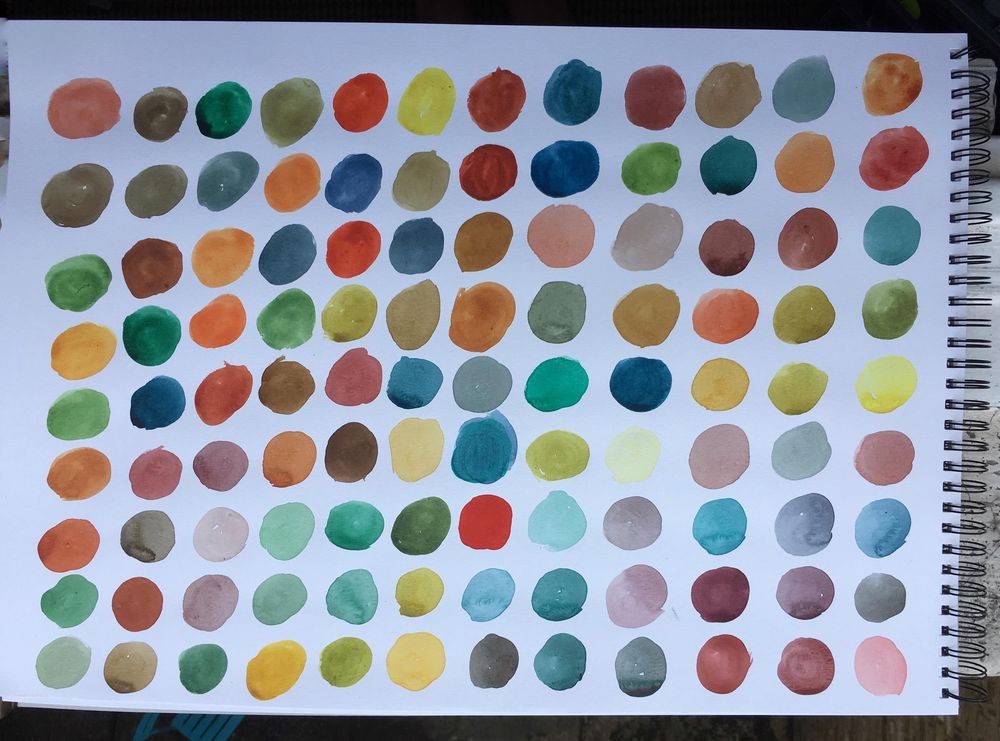 Exploring colours (intuitive mixing + colour play) - image 1 - student project