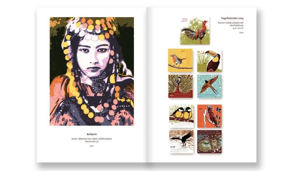 Portfolio handout for graphic illustrations and silkscreens - image 1 - student project