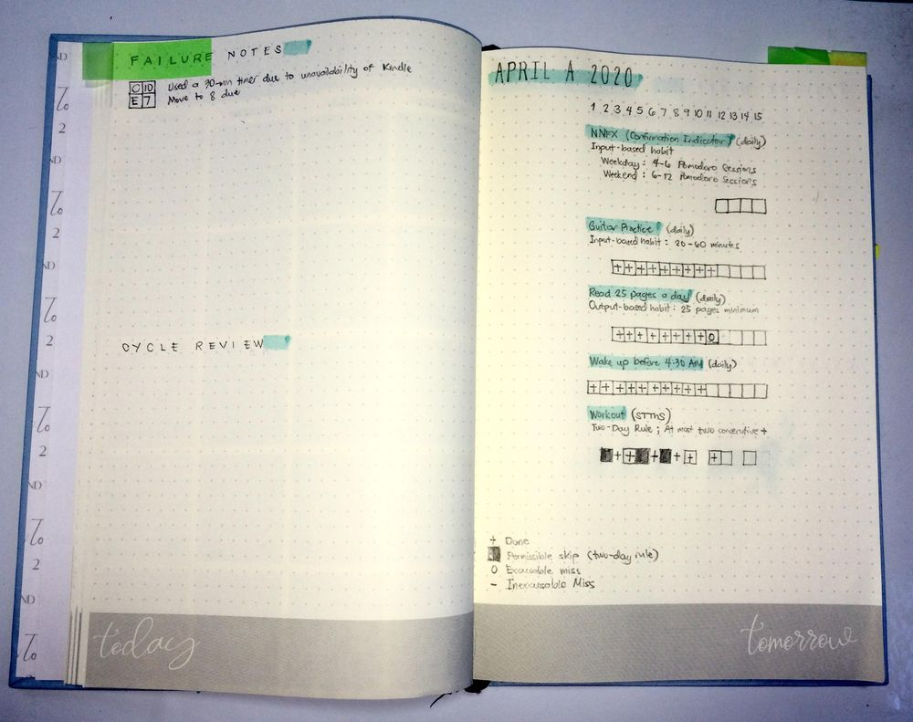 My Habit-Tracking System - image 5 - student project