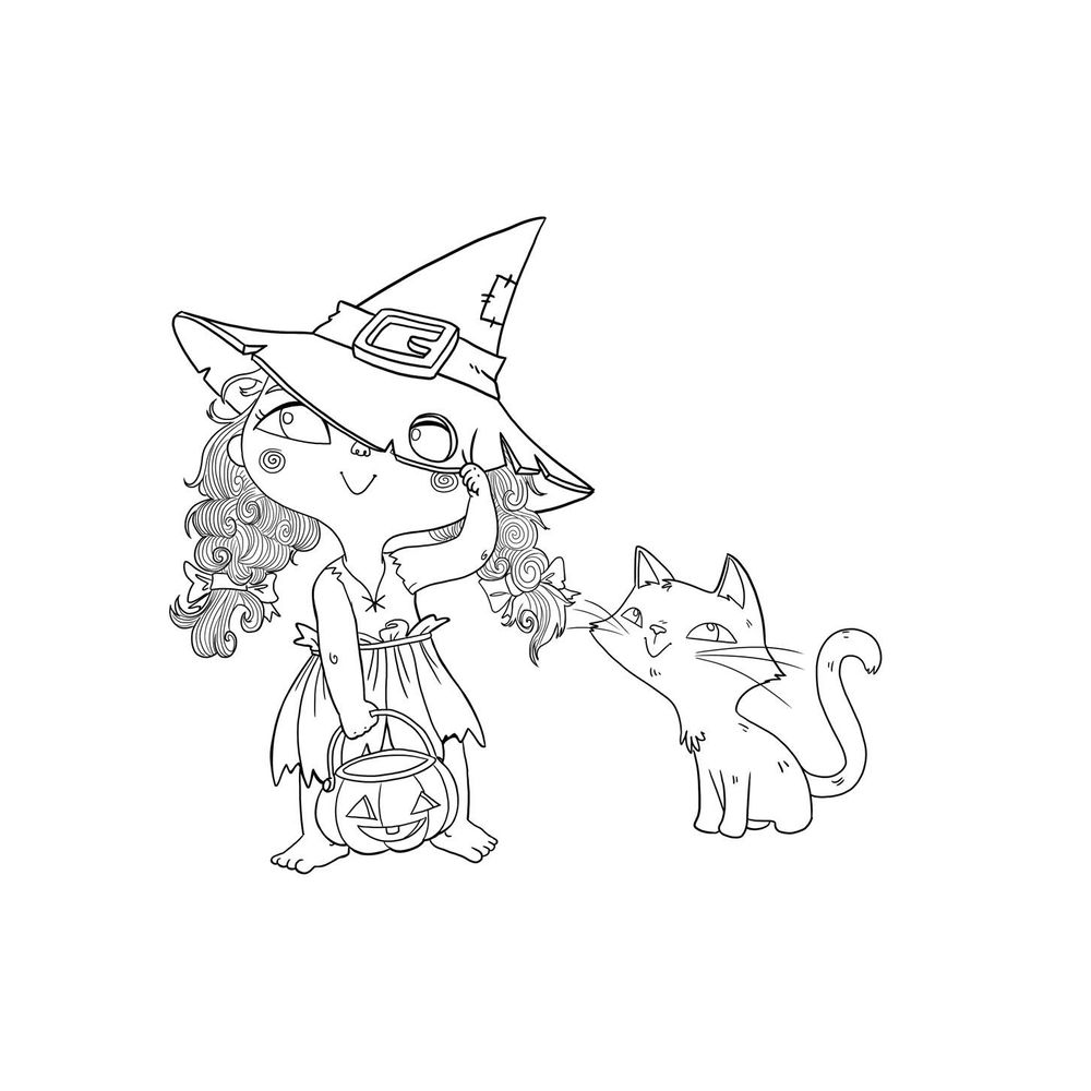 The little witch and her cat - image 1 - student project