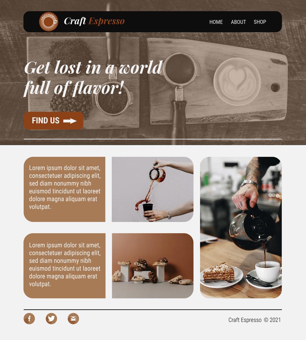 UI Craft Espresso - image 2 - student project