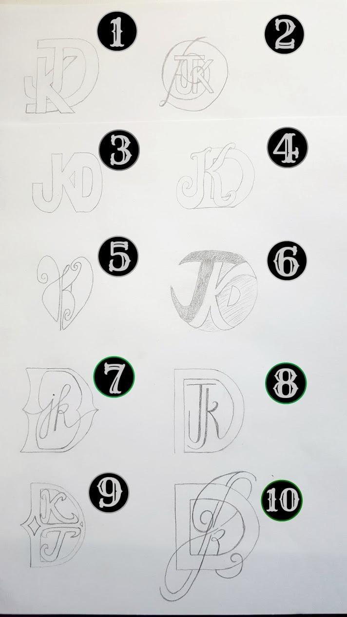 Anniversary Monogram JKD - image 5 - student project