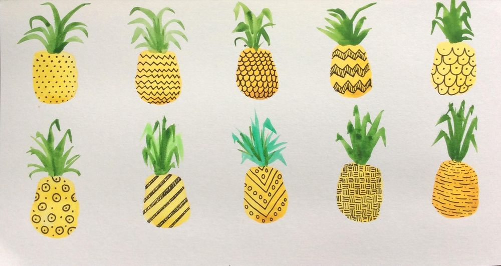 Pretty Patterned Pineapples - image 1 - student project