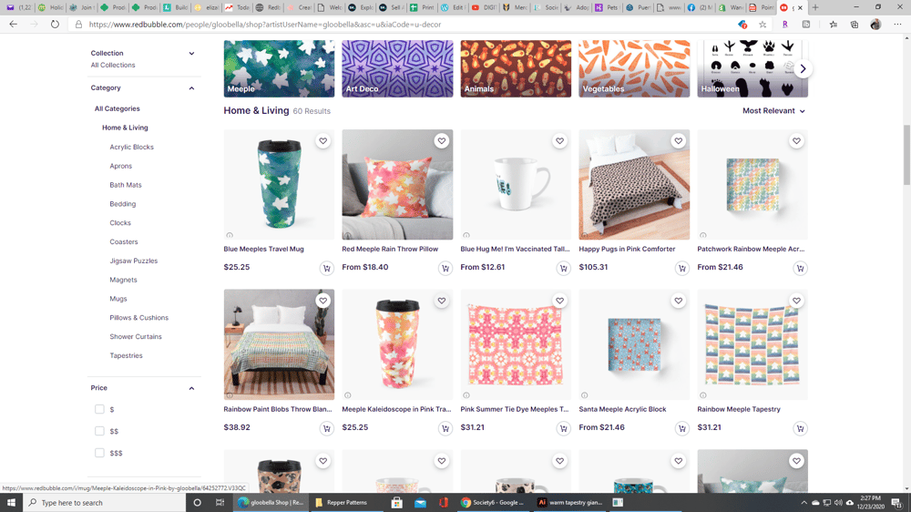 Beth's Redbubble Store - image 2 - student project