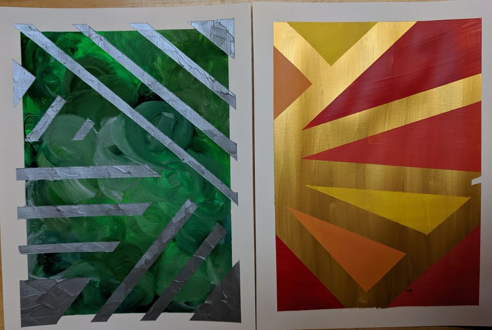 Acrylic Paintings by Beth and Mae--me and my 11 year old - image 3 - student project