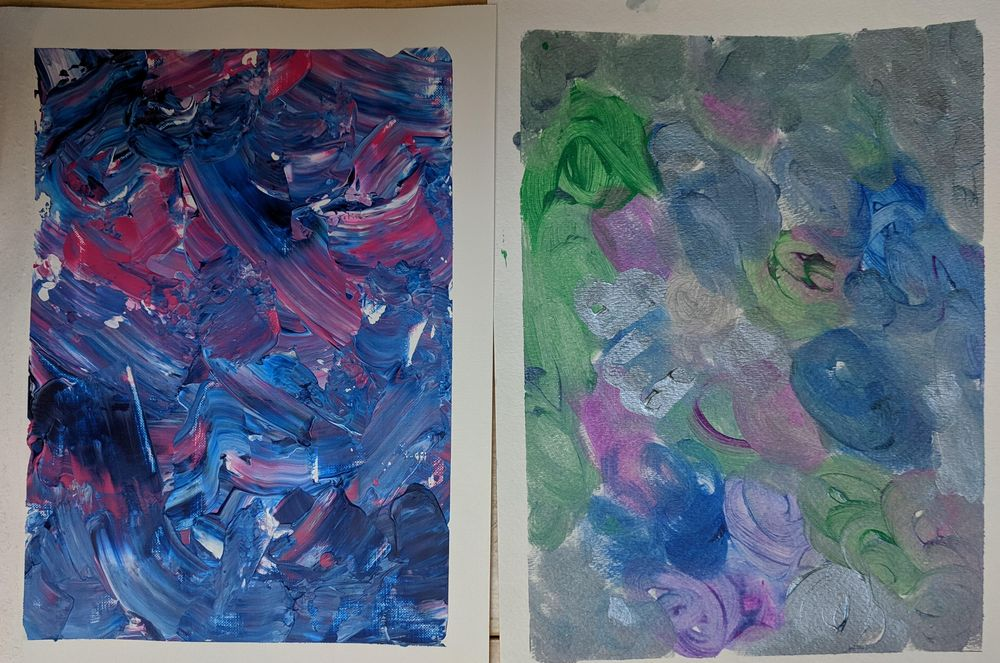 Acrylic Paintings by Beth and Mae--me and my 11 year old - image 6 - student project