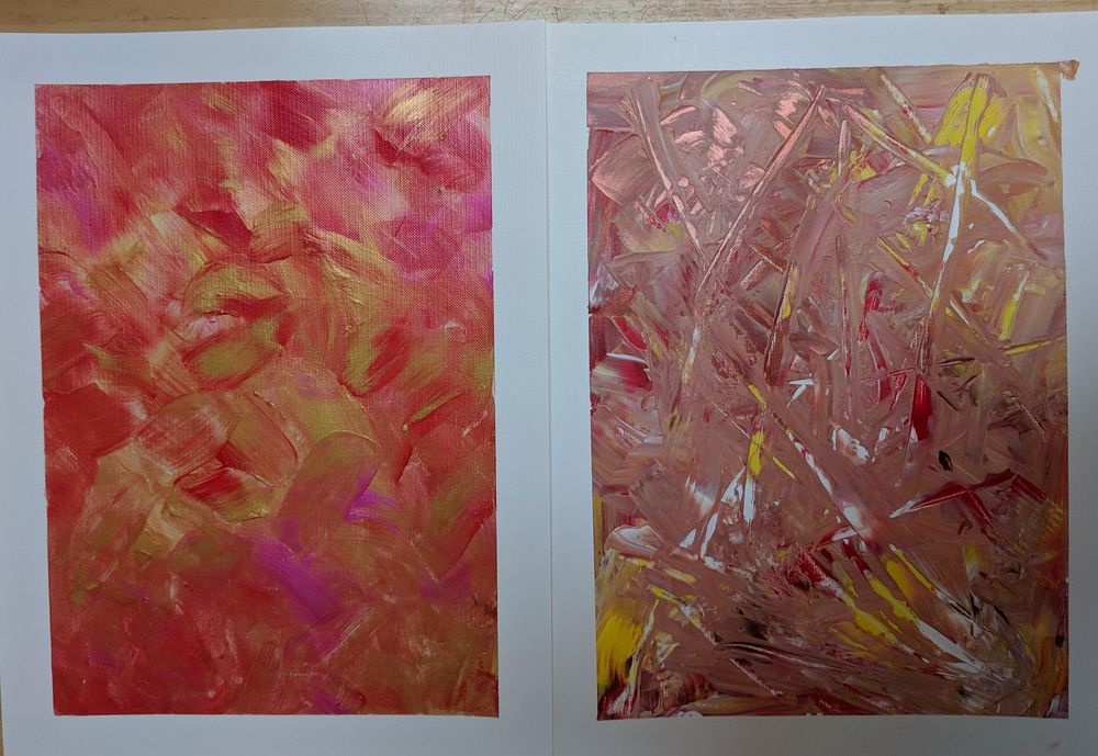 Acrylic Paintings by Beth and Mae--me and my 11 year old - image 11 - student project
