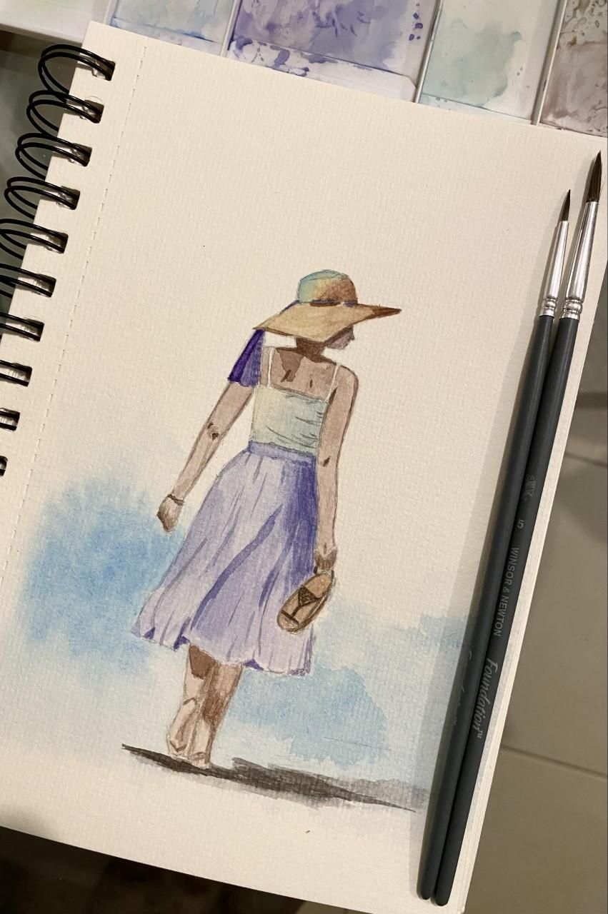 Walking lady | Lavender lady - image 1 - student project