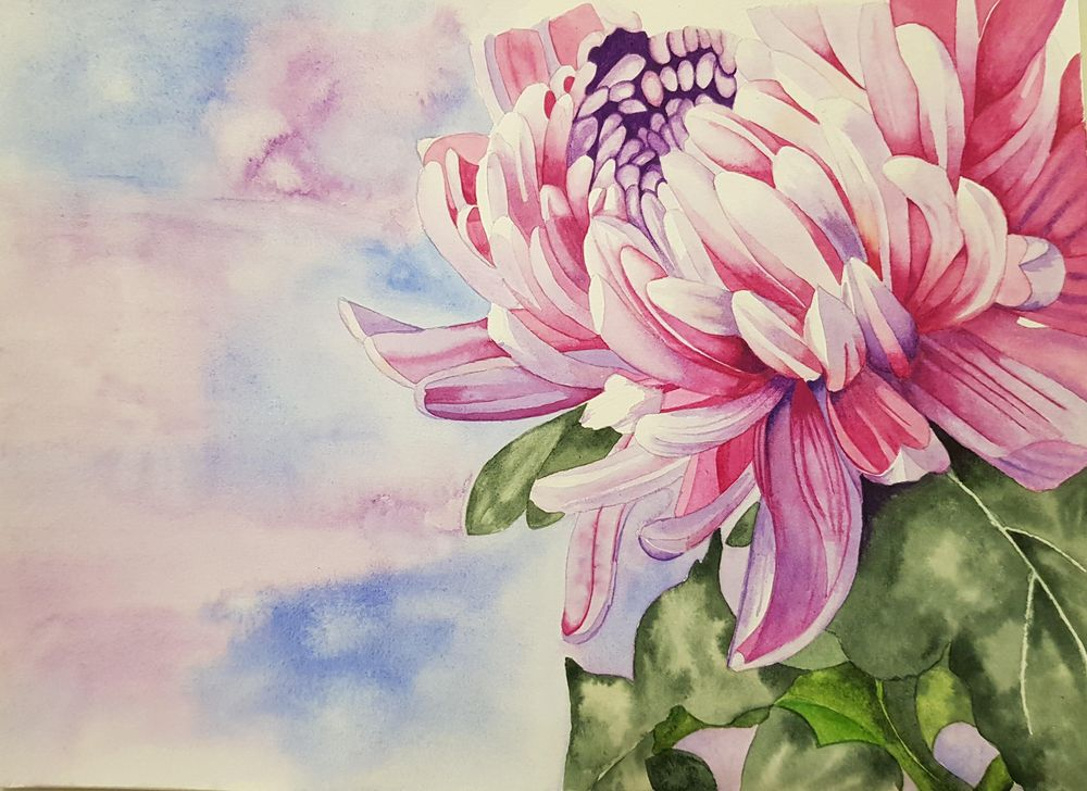Chrysanthemum Painting - image 2 - student project