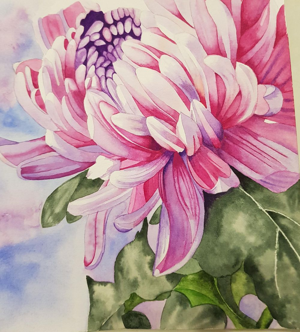 Chrysanthemum Painting - image 1 - student project