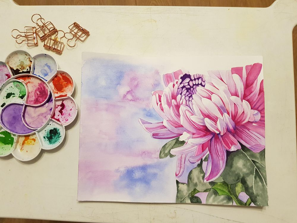 Chrysanthemum Painting - image 3 - student project