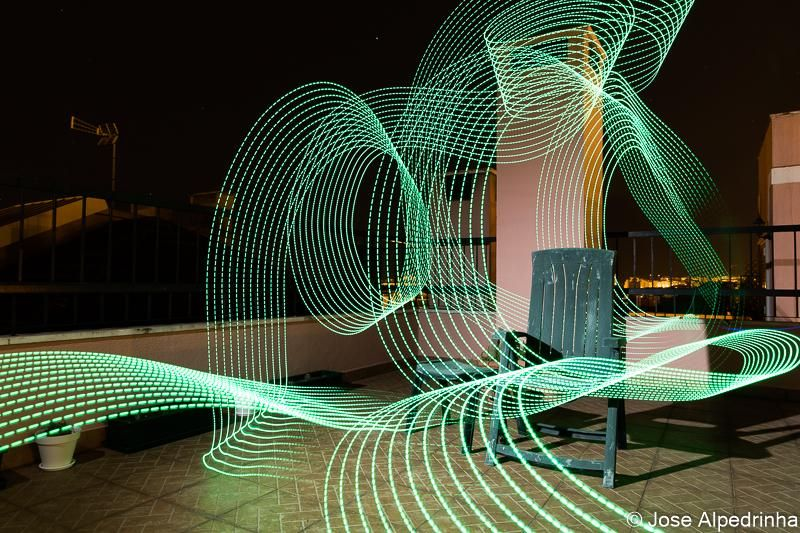 First experiment on Light Painting - image 5 - student project