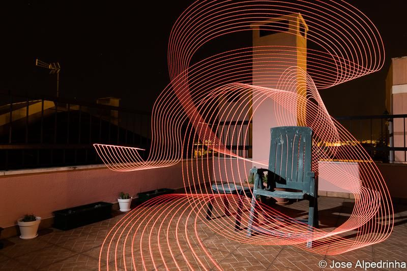 First experiment on Light Painting - image 4 - student project