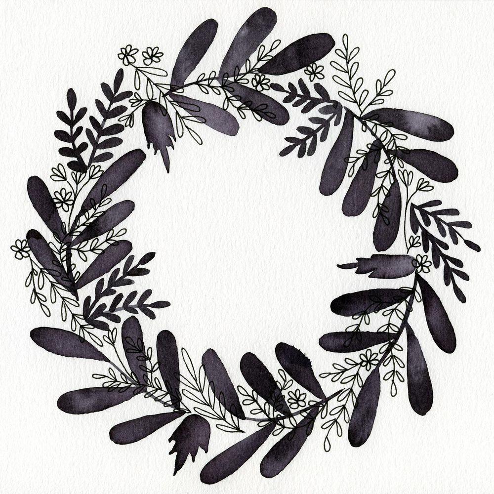 a black&white wreath - image 1 - student project