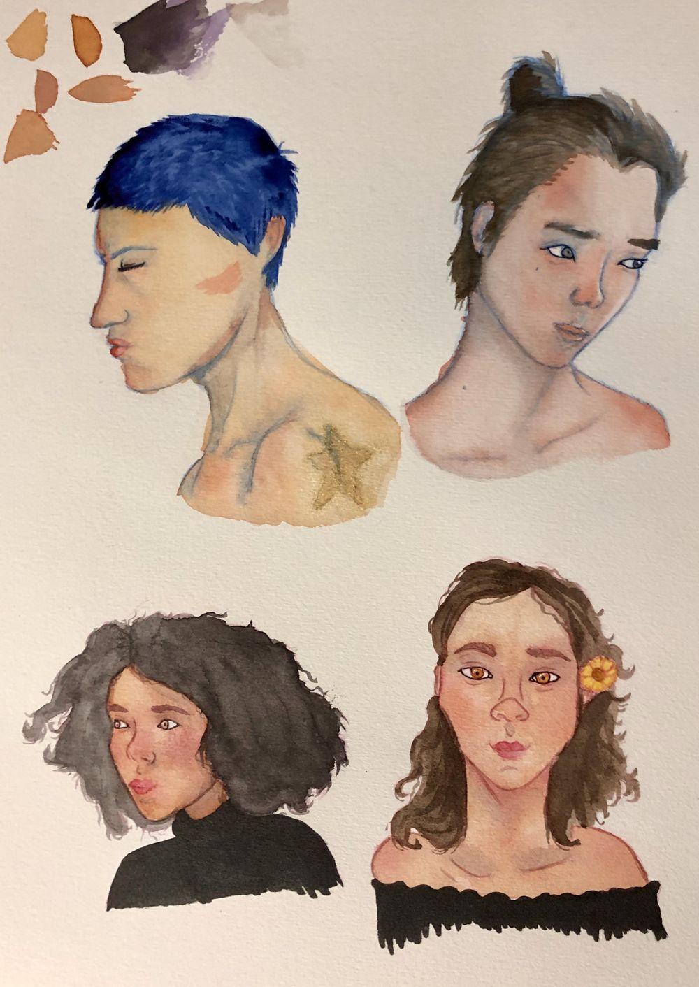 Watercolor Portrait Practice - image 1 - student project