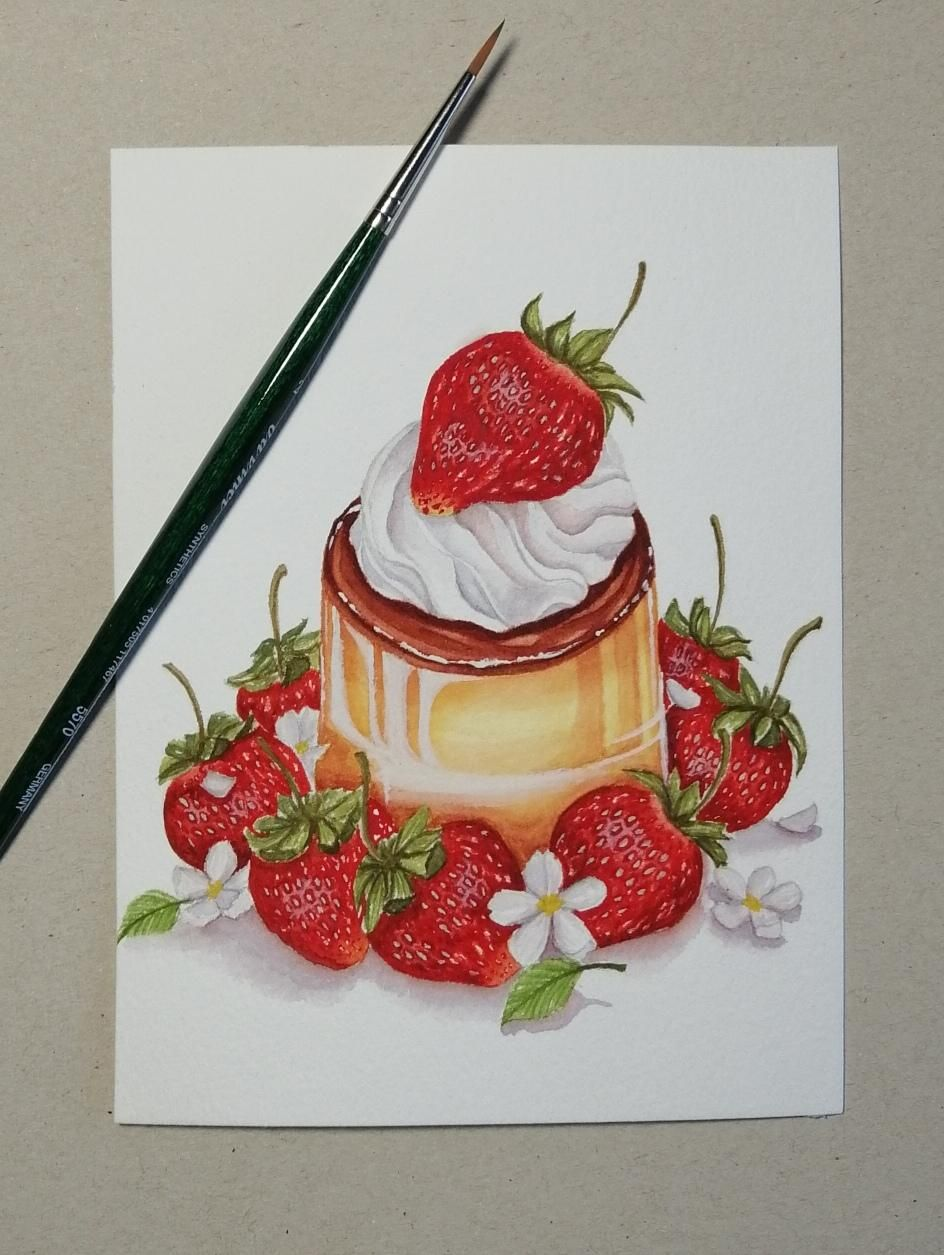 Strawberry Flan - image 1 - student project