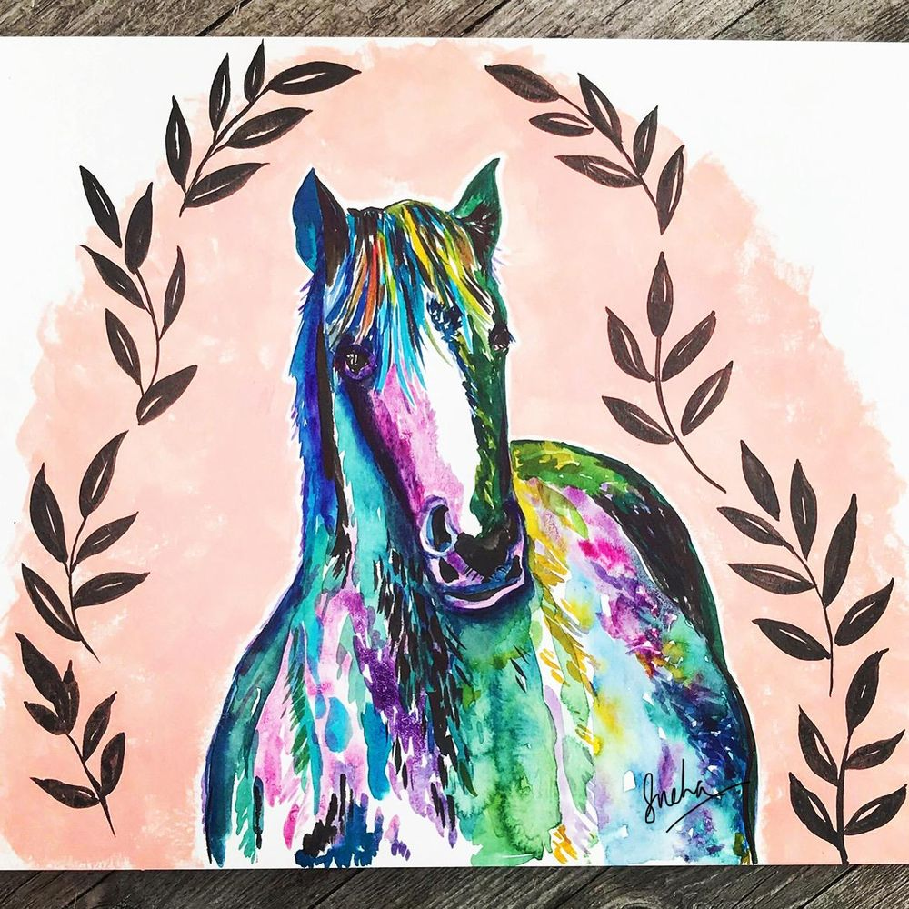 Colorful horse! - image 1 - student project