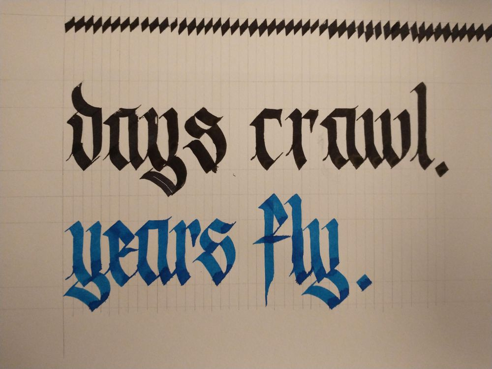 Days crawl. Years fly. - image 1 - student project