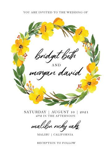 Watercolor Wildflower Invitation Suite - image 3 - student project